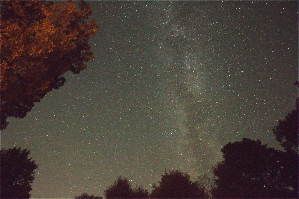 A good first photographic image of the Milky Way.