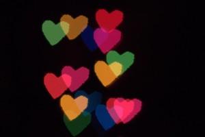 Bokeh Hearts 2
