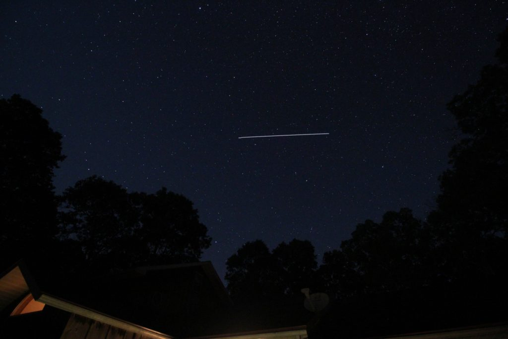 International Space Station Looking North